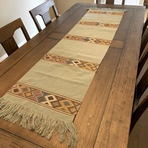Stunning hand embroidered Mexican table runner